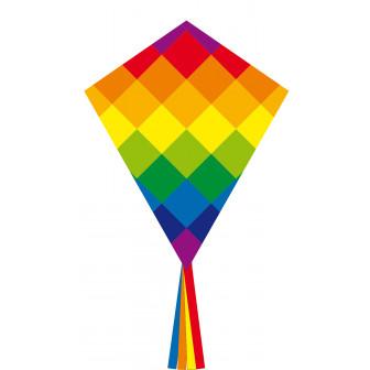 Eddy Rainbow Patchwork 70 cm Kite