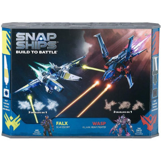 Snap Ships Battle Set: Wasp K.L.A.W. Heavy Fighter & Falx SC-41 Escort