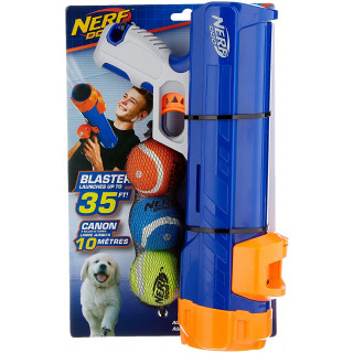 "Nerf Dog Tennis Ball Blaster Small 30cm with 3 x 2"" squeak balls"