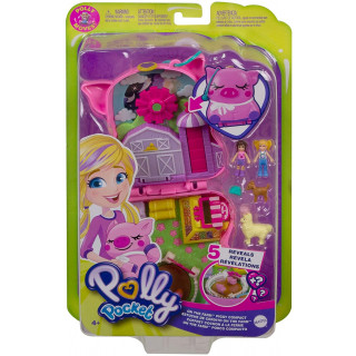 Polly Pocket ON THE FARM Piggy Compact