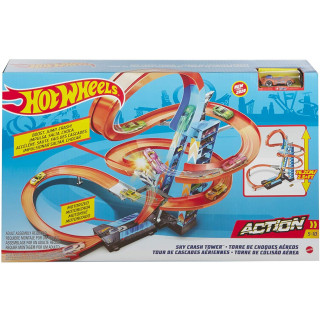 Hot Wheels Sky Crash Tower Playset