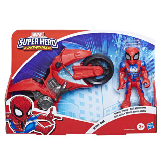 Marvel Super Hero Adventures Figure & Motorcycle