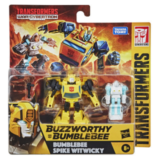 Transformers WFC Buzzworthy Bumblebee Spike Witwicky 2-Pack Action Figures
