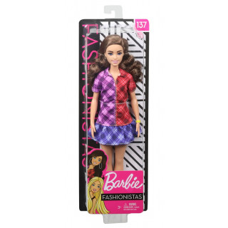 Barbie Fashionista Doll - Check Dress