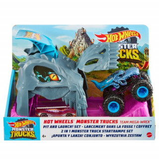 Hot Wheels Monster Truck Pit and Launch Play Set