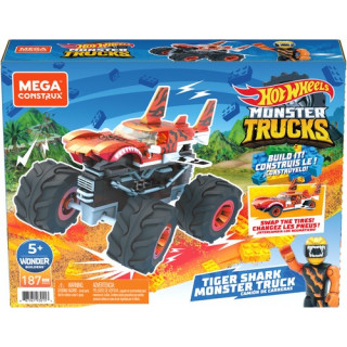 Mega Construx Hot Wheels Tiger Shark Monster Truck