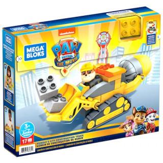 Mega Bloks Paw Patrol The Movie: Rubble's City Construction Truck Set