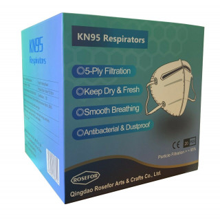 KN95 / FFP2 Protective Face Mask Disposable Box of 20 Sealed