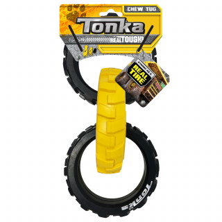 Tonka Dog Toy Flex Tread 3-Ring Tug 10.5inch